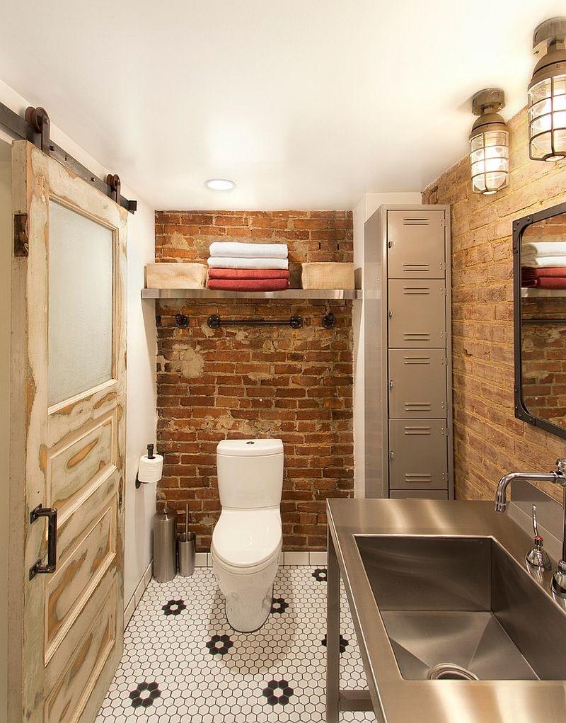 Туалет в стиле «лофт»
