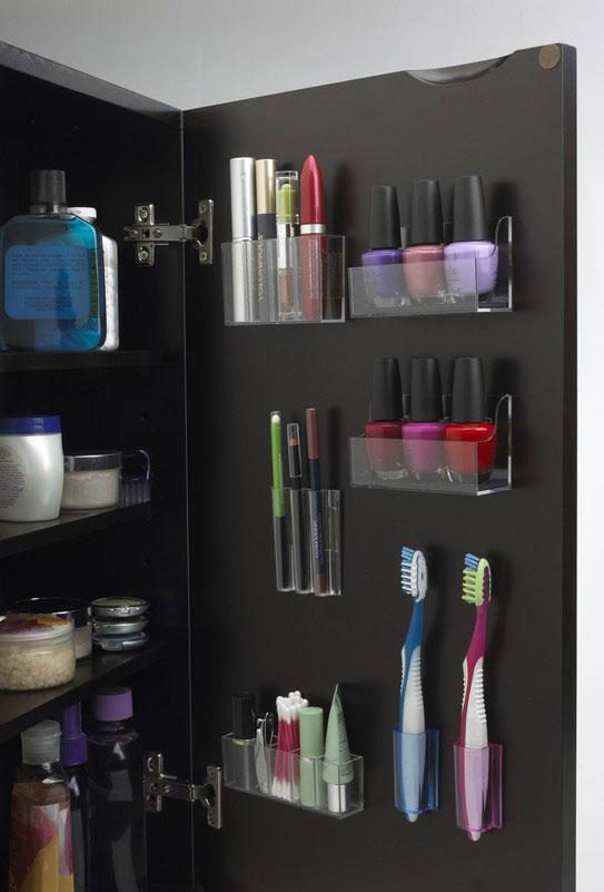 Идея хранения вещей в ванной комнате